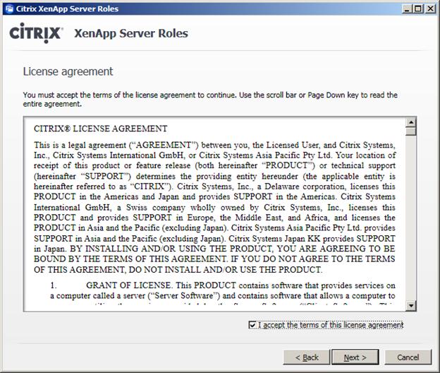PART 8 – Citrix XenApp Server 6.5 Installation