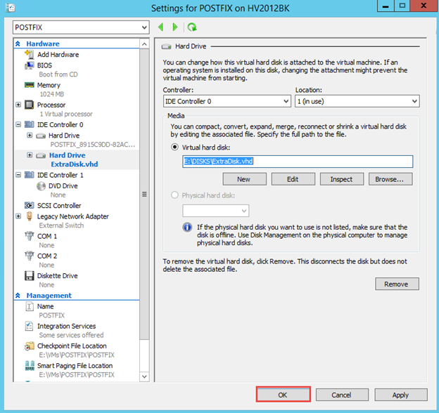 How to Add an Extra Hard Drive to Linux Server on Hyper-V