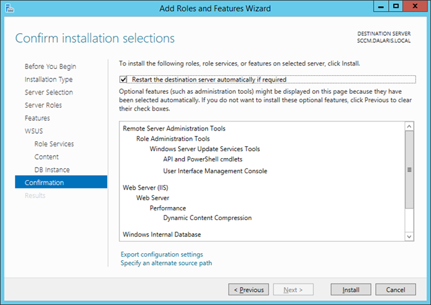 SCCM 2012 R2 PART 4 – Installing WSUS for Systems Center