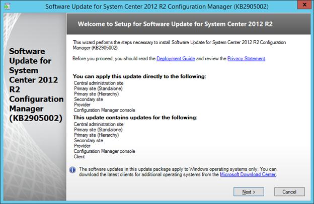 SCCM 2012 R2 PART 7 – Installing Updates for SCCM 2012 R2