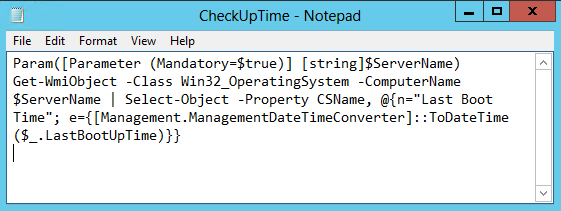 How to Write a PowerShell Script to Check Windows Up Time